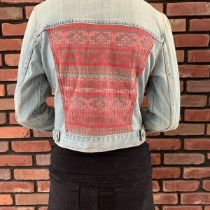 American Eagle Outfitters Jackets & Coats - 💖Jean Jacket with Aztec Design
